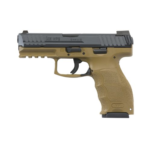 HK VP9 9mm Flat Dark Earth with two 15 round magazines