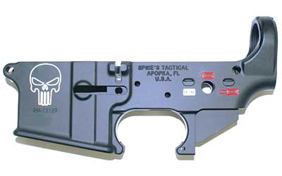 Spike's Tactical AR15 Stripped Lower Receiver Punisher w/ color fill