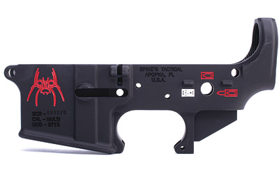 Spike's Tactical Spider Color Fill AR15 Stripped Lower Receiver