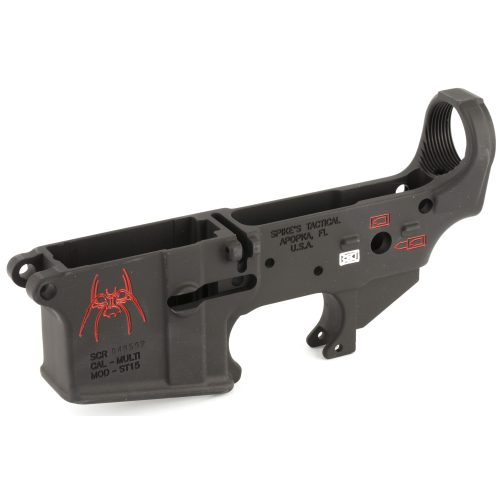 Spike's Tactical Spider Color Fill AR15 Stripped Lower Receiver2
