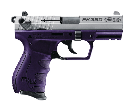 Walther PK380 Purple Nickel .380acp with one 8 round mag MFR#: 5050322
