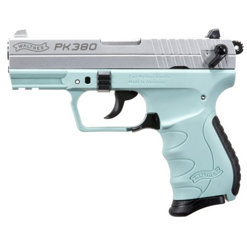 Walther PK380 Angel Blue .380acp with one 8 round mag MFR#:5050325 UPC:723364210389