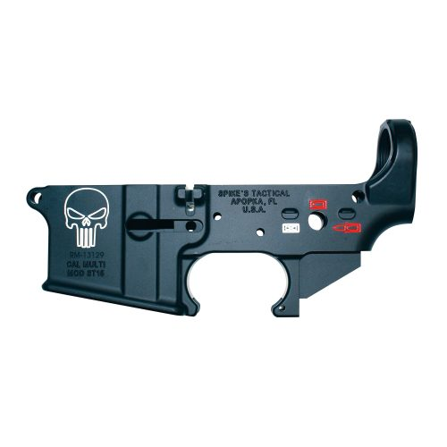 Spike's Tactical Punisher Color Fill AR15 Stripped Lower Receiver 1