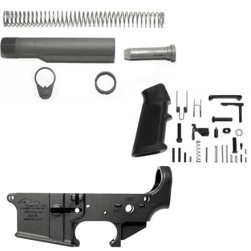 Anderson AR 15 Stripped Lower Receiver Kit w/ Mil-Spec Tube