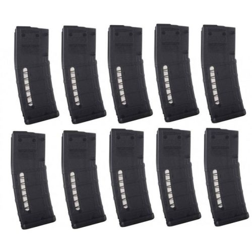 Magpul PMAG MOE M2 AR 15 5.56 30 round Black with window 10 Pack