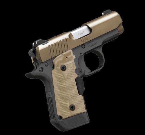 Kimber Micro 9 Desert Tan LG 9mm Crimson Trace Laser Grip