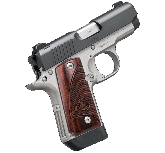 Kimber 9mm Micro 9 Stainless Tfx Pr: Kimber Micro 9 Two-Tone 9mm Rosewood Grips · 3300099 · DK