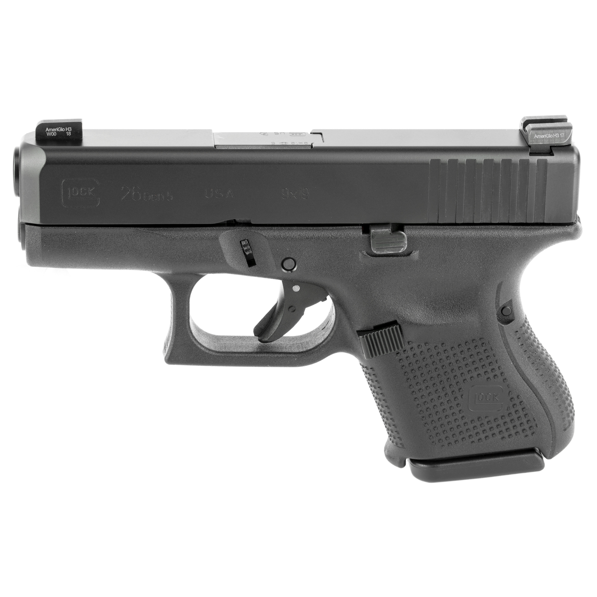 Glock 26 Gen 5 9mm Ameriglo Night Sights Pa2650301ab Dk Firearms