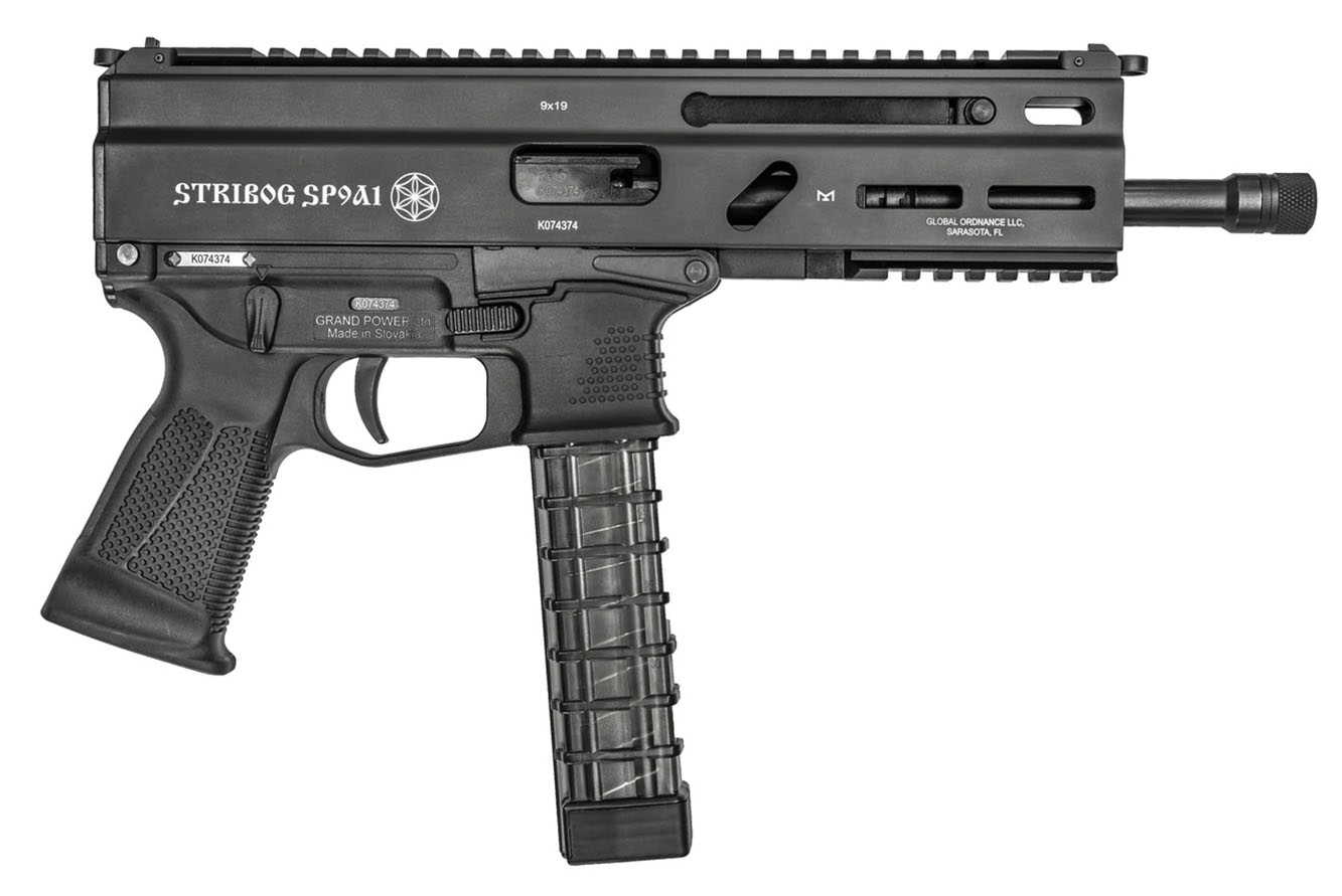 Grand Power Stribog SP9A1 9mm Pistol with SB Tactical Side
