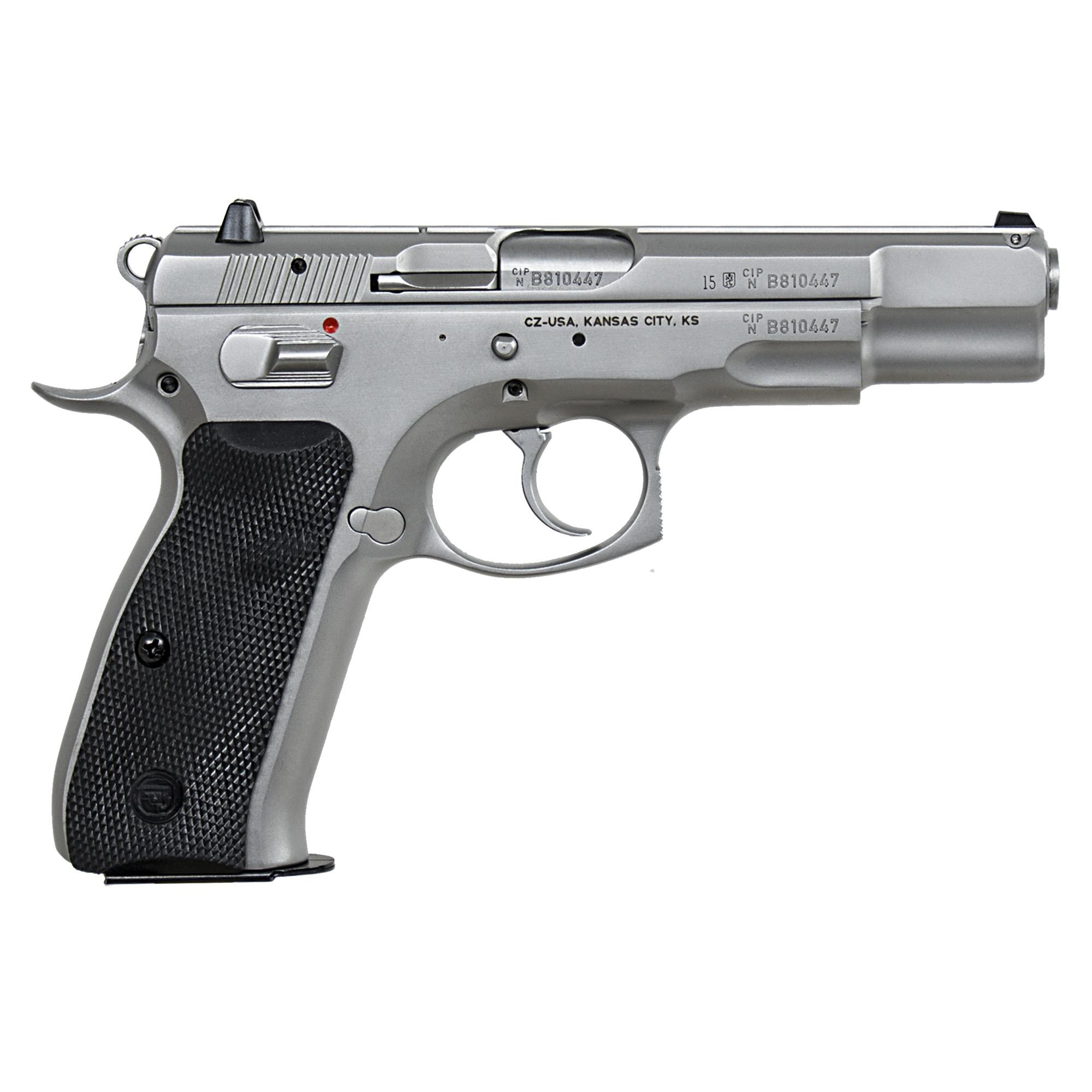CZ 75B Matte Stainless 9mm · 91128 · DK Firearms