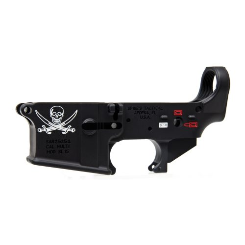 Spike's Tactical Calico Jack Color Fill AR15 Stripped Lower Receiver 1