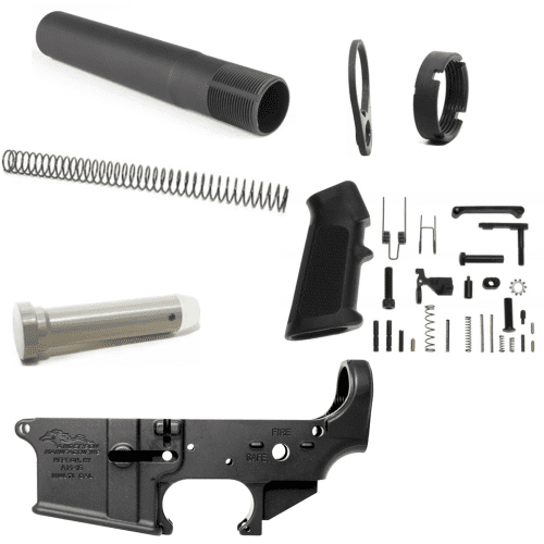 Anderson AR 15 Stripped Lower Receiver Kit w/ Pistol Tube