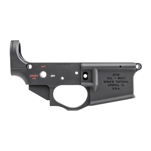 Spike's Tactical Waterboarding Instructor Color Filled AR15 Stripped Lower Receiver 1