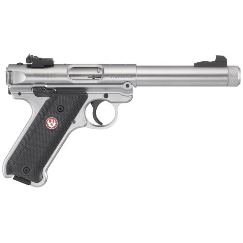 Ruger Mark IV Target Stainless Steel Threaded Barrel 22LR 1
