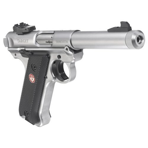 Ruger Mark IV Target Stainless Steel Threaded Barrel 22LR 2