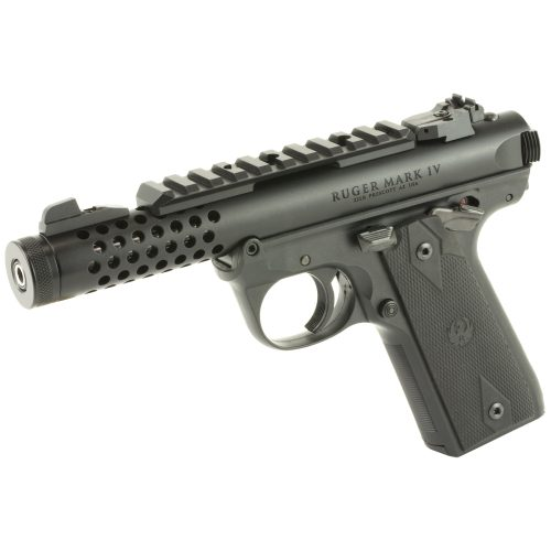 Ruger Mark IV 22/45 LITE Black Threaded Barrel 22LR 3