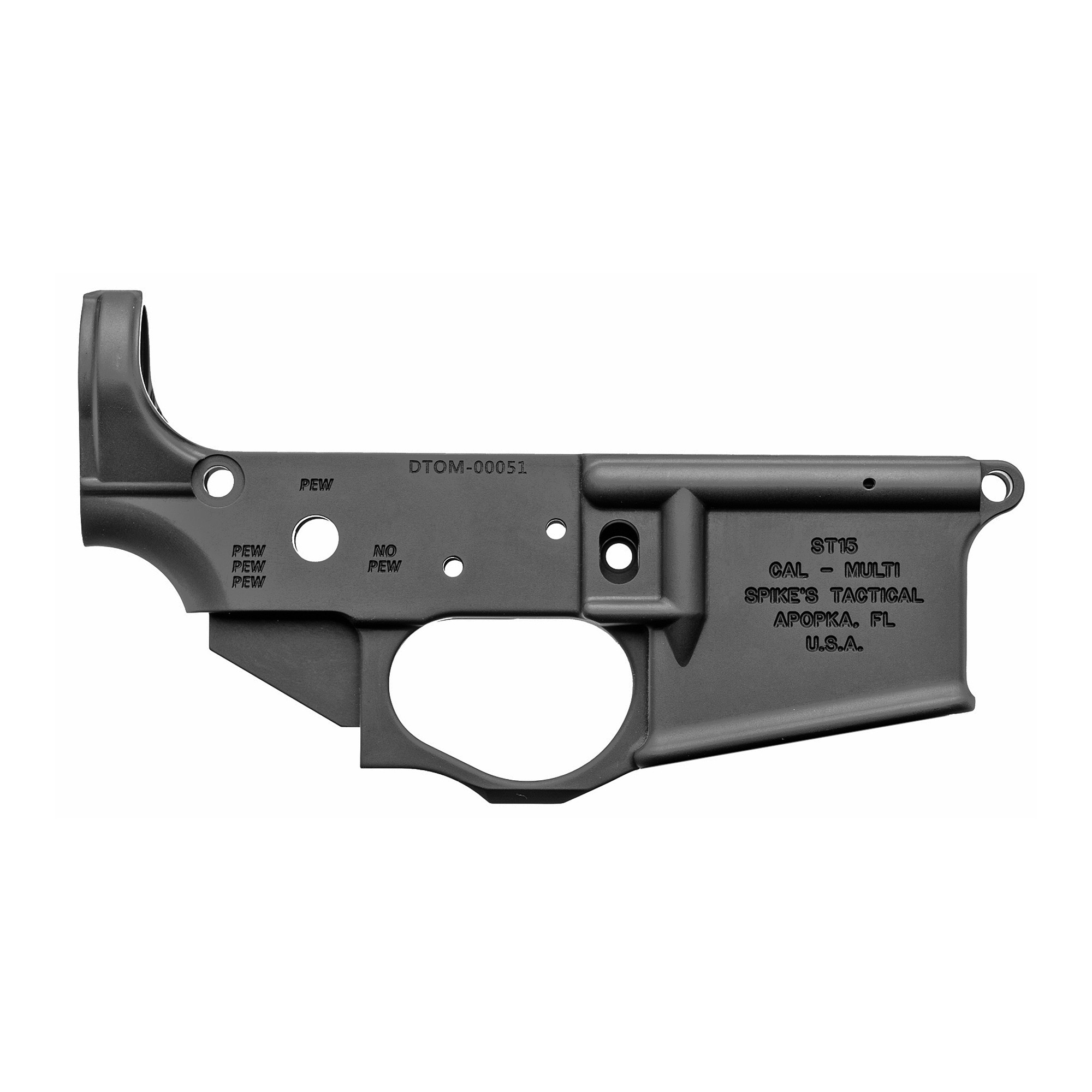 Spike's Tactical Gadsden Flag AR15 Stripped Lower Receiver · DK Firearms