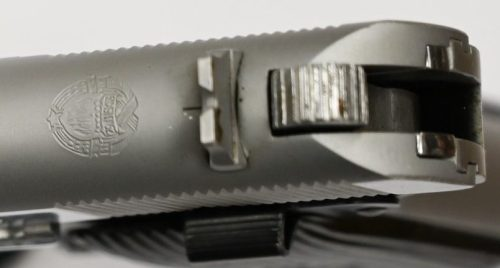 Brushed Steel Frame & Brushed and Polished Chrome Slide Grade A Crest