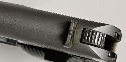 Brushed Steel Frame Brushed and Polished Chrome Slide Grade A No Crest