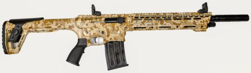 Panzer Arms AR-12 Shotgun AR Twelve 12ga Desert Camo with two 5 round magazines
