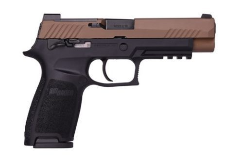 SIG Sauer P320 M17 9mm Coyote Slide Black Frame