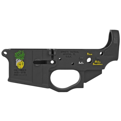 Spike's Tactical Pineapple Grenade Color Filled AR15 Stripped Lower Receiver