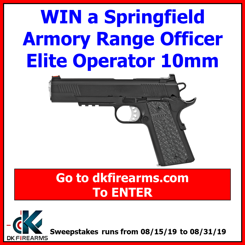 Win a Springfield Armory Range Officer Elite Operator in
